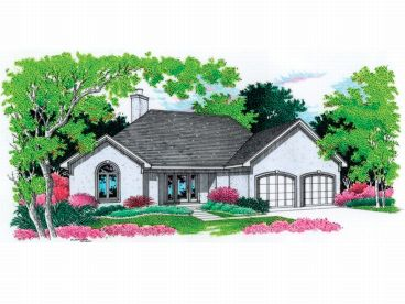 Stucco House Plan, 021H-0052
