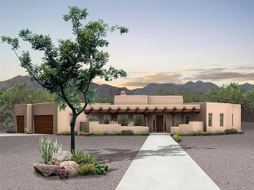 Adobe Home Plan, 057H-0027