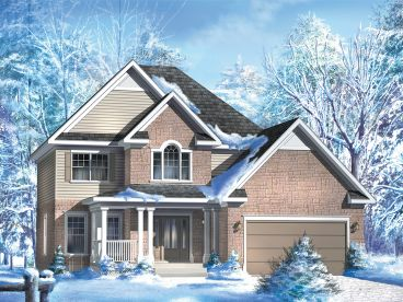 Traditional 2-Story House Plan, 072H-0126