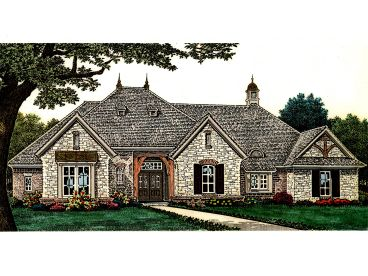 European House Plan, 002H-0107
