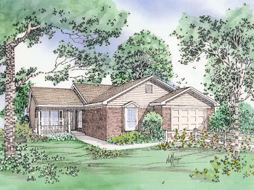 Narrow Lot House Plan, 009H-0001