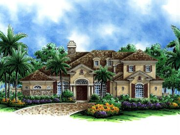 European House Plan, 040H-0028