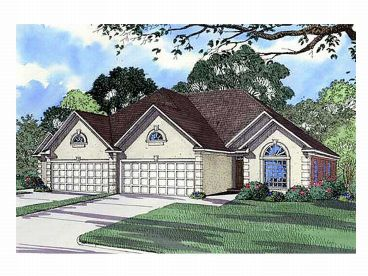Duplex Home Plan, 025M-0025