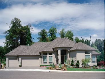 Stucco Home Plan Photo, 034H-0079
