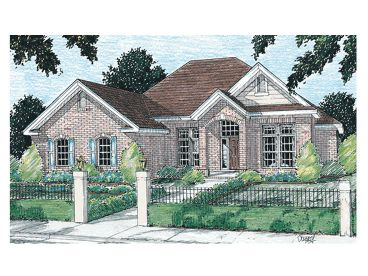 Ranch House Plan, 059H-0029
