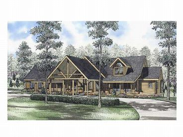 Log Home Design, 025L-0039