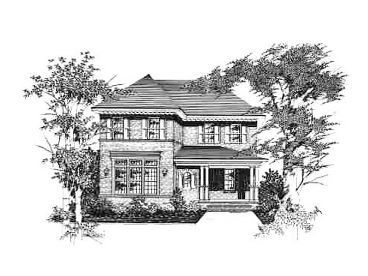 Narrow Lot Home Plan, 061H-0062