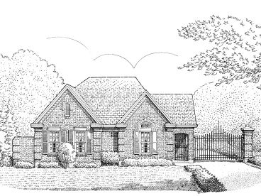 Narrow Lot House Plan, 054H-0034