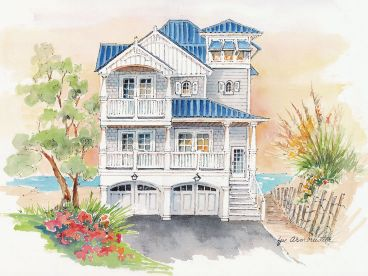 Unique Beach Home Plan, 041H-0138