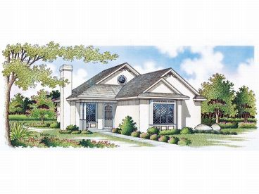 Vacation House Plan, 021H-0004