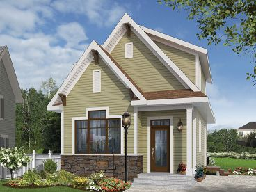 Cottage Home Plan, 027H-0407
