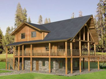 Mountain House Plan, 012L-0059