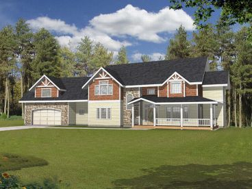 2-Story Home Plan, 012H-0018