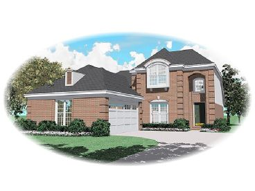 2-Story House Plan, 006H-0076