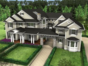 Two-Stroy Home Plan, 035H-0091