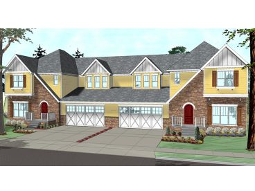 Duplex House Plan, 050H-0007