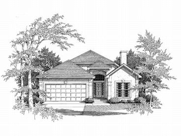 Floridian Home Plan, 019H-0110