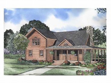 Log House Plan, 025L-0014