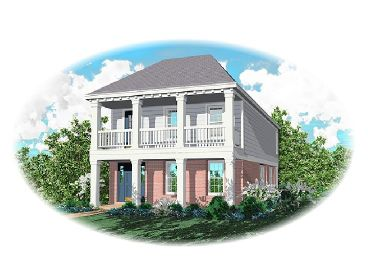 Colonial House Plan, 006H-0001