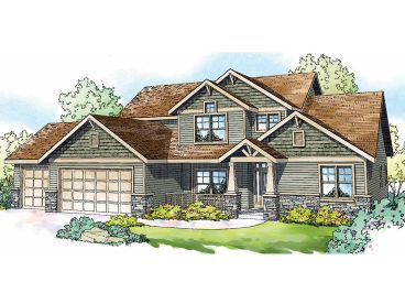 Craftsman Home Design, 051H-0171