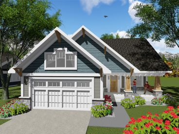 Empty-Nester House Plan, 020H-0401