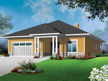 Narrow Lot Home Plan, 027H-0382