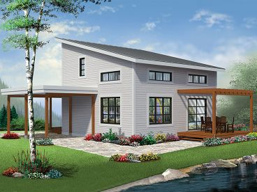 Small Modern House Plan, 027H-0457