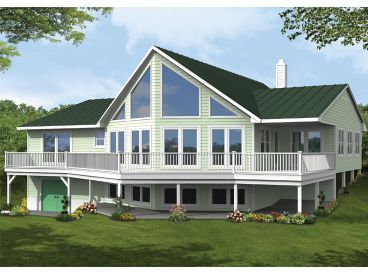 Waterfront Home Plan, 068H-0036