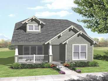 Bungalow House Plan, 016H-0038
