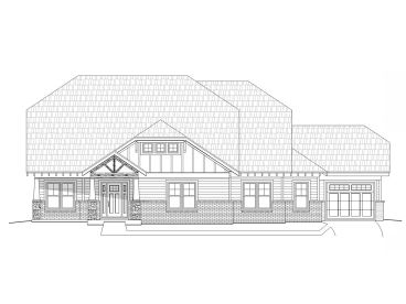 Craftsman House Plan, 062H-0044