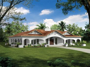 Florida Style House Plan, 057H-0022
