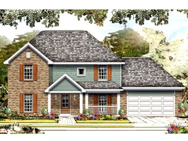 Two-Story House Plan, 061H-0162