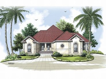 Sunbelt House Plan, 021H-0136