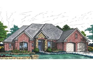One-Story Home Plan, 002H-0014