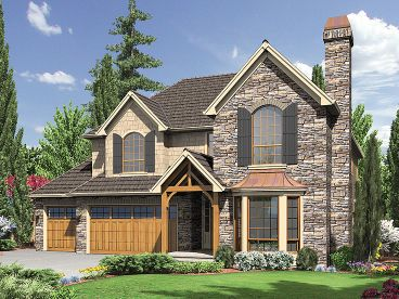 European House Plan, 034H-0015