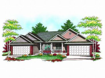 Duplex House Plan, 020M-0053