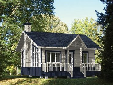 Cottage Home Plan, 072H 0187
