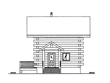 Log Cabin Plan, 012L-0073