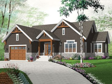 Ranch House Plan, 027H-0429