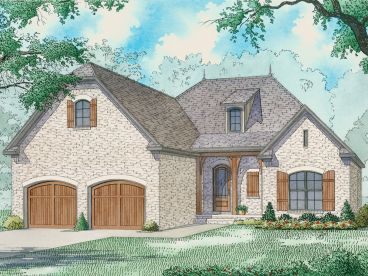 European House Plan, 074H-0068