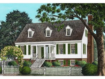 Colonial House Plan, 063H-0165