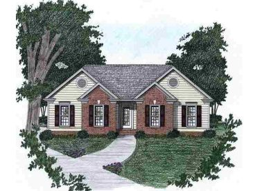 Small Traditional Home, 045H-0001