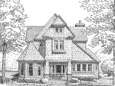 Unique House Plan, 054H-0065