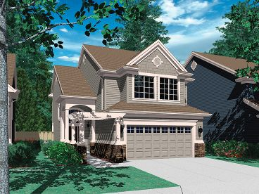 Narrow Lot Home Design, 034H-0101