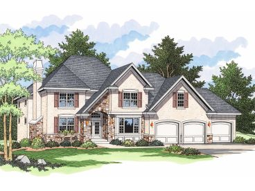 European House Plan, 023H-0107
