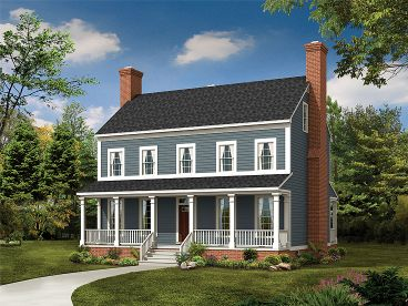 Narrow Lot House Plan, 057H-0015