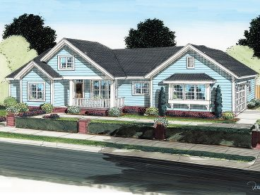 Ranch House Plan, 059H-0131