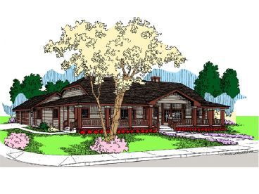 Country Ranch Home Plan, 013H-0096