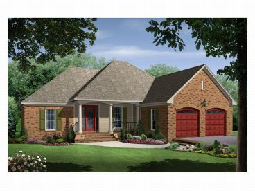 Ranch Home Plan, 001H-0022