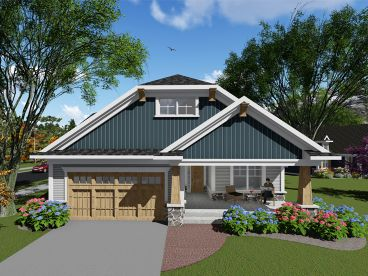 Bungalow House Plan, 020H-0406